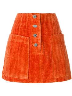 вельветовая юбка А-образного силуэта Rejina Pyo