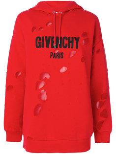 толстовка с капюшоном и принтом логотипа Givenchy