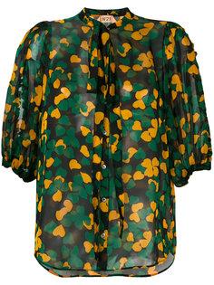 блузка с принтом клевера Nº21
