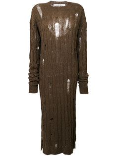 distressed cable knit dress Damir Doma