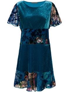 платье с цветочной отделкой  Alberta Ferretti