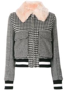 куртка с вышивкой MSGM