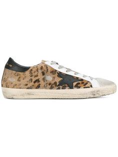 кроссовки с леопардовым принтом Superstar Golden Goose Deluxe Brand