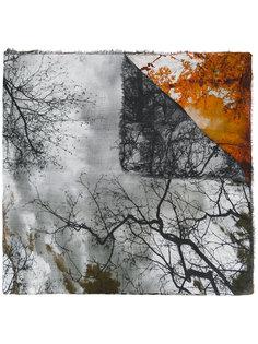 шарф с принтом листьев Faliero Sarti