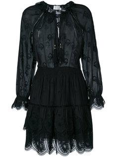 платье с эластичной талией и фестонами Zimmermann