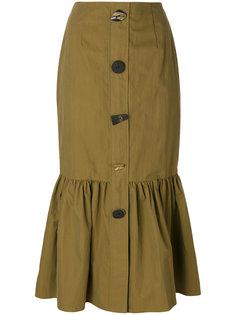 юбка на пуговицах с баской Rejina Pyo