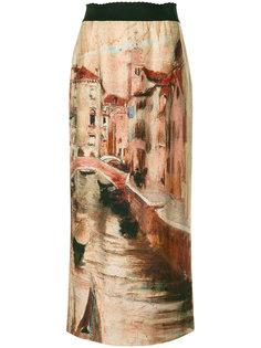 юбка с принтом Venice Alberta Ferretti
