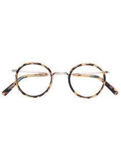 tortoiseshell round glasses Masunaga