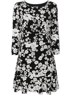 платье с оборками с цветочным принтом Boutique Moschino