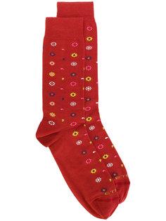 носки с цветочным узором Etro
