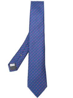 галстук с геометрическим узором Canali
