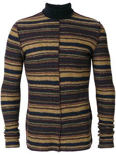 полосатый свитер с отворотной горловиной Maison Margiela