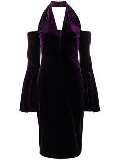 приталенное платье миди с лямкой через шею  Tom Ford