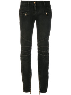 байкерские джинсы скинни  Balmain