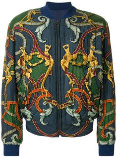 двусторонняя куртка бомбер с узором Hermès Vintage