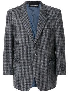 пиджак в клетку с зазубренными лацканами Pierre Cardin Vintage