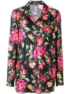 пижамная рубашка с принтом роз Dolce & Gabbana