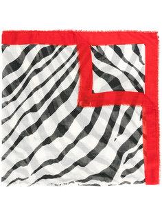 шарф с зебровым принтом Lanvin