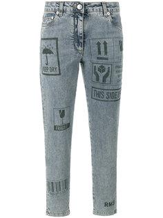 узкие джинсы с принтом Packaging Moschino