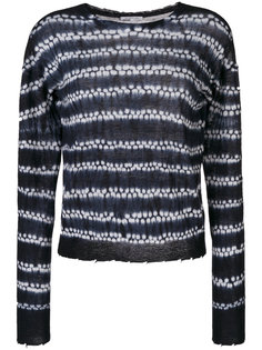 трикотажный свитер shibori Helmut Lang