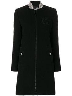 пальто с воротником на молнии  Love Moschino