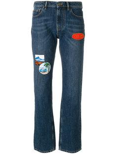 прямые джинсы в стиле пэчворк  Kenzo