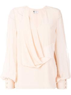 блузка с драпировкой  Lanvin