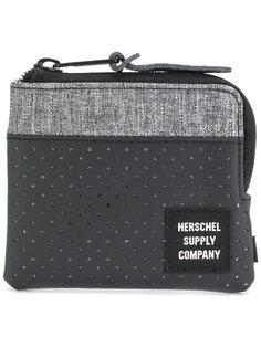 перфорированный кошелек на круговой молнии Herschel Supply Co.