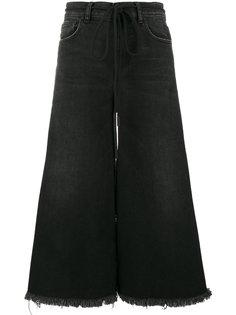 укороченные джинсы с вышитыми лилиями Off-White