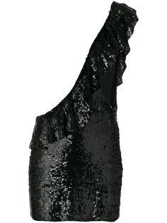 платье на одно плечо в пайетках Filles A Papa