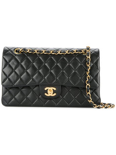 стеганый кошелек на цепочке с логотипом Chanel Vintage