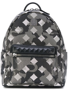 square pattern backpack MCM