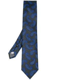галстук с узором пейсли Canali