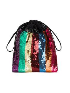 полосатый мешковатый клатч с пайетками Attico