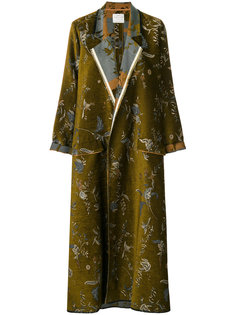 пальто с драпировкой и вышивкой  Forte Forte