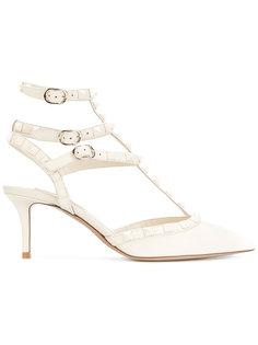 туфли-лодочки с ремешком на щиколотке и заклепками Rockstud Valentino
