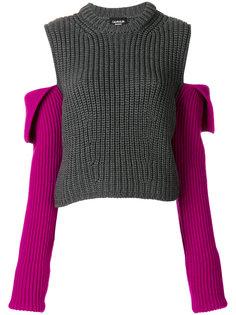 трикотажный джемпер с открытыми плечами Calvin Klein