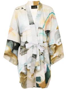 watercolour print kimono jacket Stine Goya