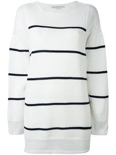 полосатый свитер асимметричного кроя Stella McCartney