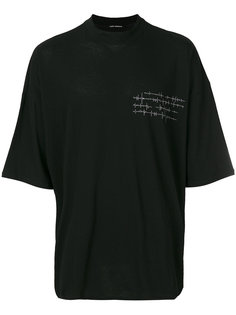 футболка с принтом сердечного пульса Isabel Benenato