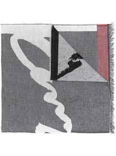 шарф с миксом орнаментов Kenzo