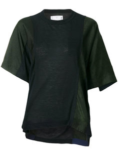футболка с принтом пейсли  Sacai