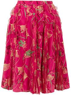 юбка с лотосами Valentino
