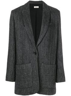 свободный пиджак в елочку  Masscob