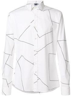 рубашка с геометрическим принтом Les Hommes Urban