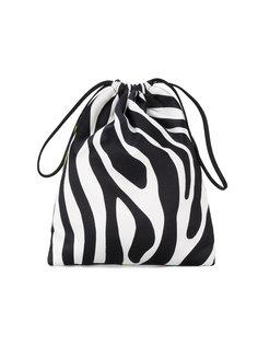 сумочка с зебровым принтом Attico