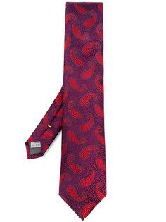 жаккардовый галстук с узором пейсли Canali