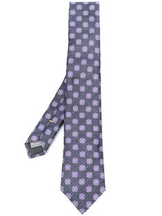 жаккардовый галстук с цветочным узором Canali