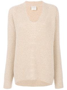свитер в рубчик с U-образным вырезом  Forte Forte
