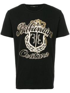 футболка с принтом Billionaire